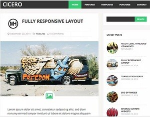 Cicero free WordPress theme