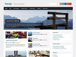 Courage free WordPress theme