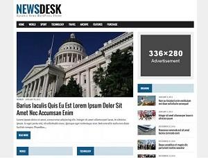 MH Newsdesk lite free WordPress theme