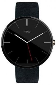 Motorola Moto 360 Black Leather Android Wear Smartwatch