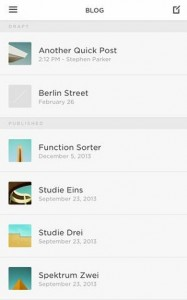 SquareSpace Blog WordPress app for iPhone and iPad