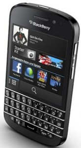 Blackberry Q10 Android smartphone