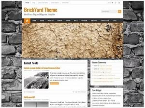 BrickYard magazine WordPress theme