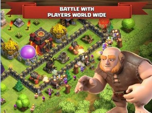Clash Of Clans Android game for tablet