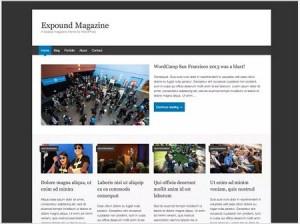 Expound magazine WordPress theme