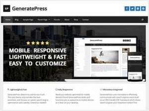 GeneratePress Ecommerce WordPress theme