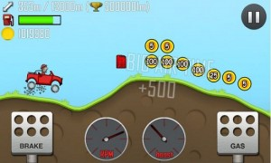 Hill Climb Racing Android game for tablet