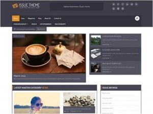 Manage Issue Based magazine WordPress theme