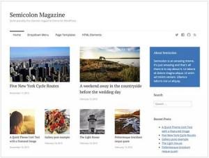 Semicolon magazine WordPress theme