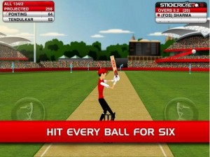 Stick Cricket Android game for tablet