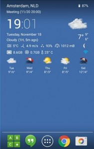 Transparent clock & weather app for Android
