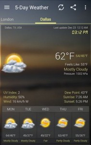 Weather & Clock Widet app for Android