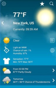 Weather XL PRO app for Android