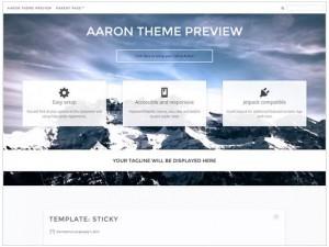 Aaron WordPress theme for portfolio