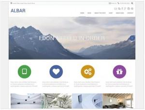 Albar WordPress themes for Portfolio