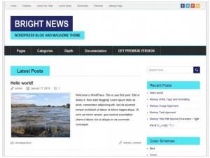 BrightNews theme for WordPress