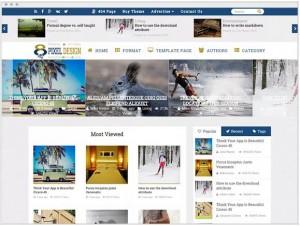 ClesarMedia news theme for WordPress