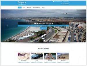 Enigma WordPress themes for portfolio