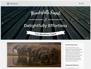 Influence WordPress theme for Photography
