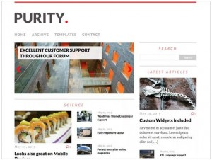 MH Purity Lite news theme for WordPress