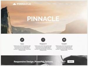Pinnacle WordPress themes for Portfolio