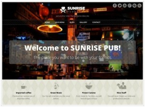 Sunrise WordPress Restaurant themes
