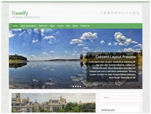 Travelify Travel themes for WordPress