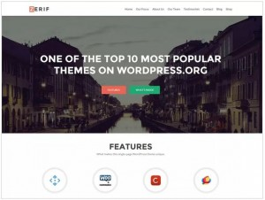 Zerif Lite WordPress themes for Phototgraphy