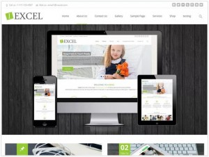 i Excel WordPress themes for small business