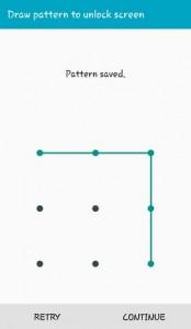 Draw Pattern to unlock screen