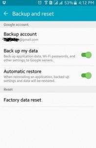 How to backup data on android lollipop