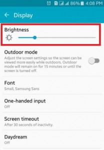 Reduce Brightness on android device