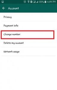 Tap on Change Number