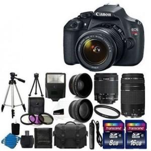 Canon digital SLR camera bundle deals 2015-16