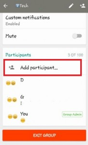 How to add participants in WhatsApp group