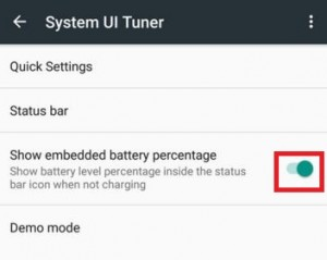 How to show battery percentage on android 6.0 marshmallow
