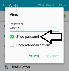 Show wifi password on android phone and tablet