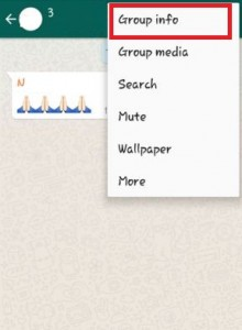Tap on Group info on WhatsApp