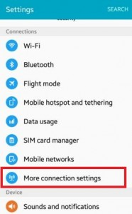 Tap on more connection settings