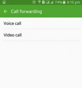 set call forwarding on android lollipop
