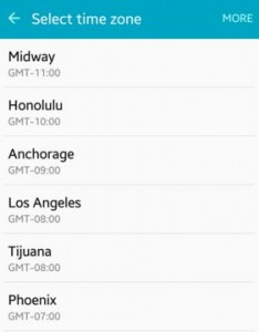 set time zone on android lollipop