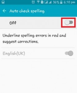 turn off autocorrect on android lollipop