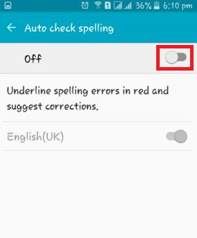 How to turn off autocorrect on android lollipop: Predictive text