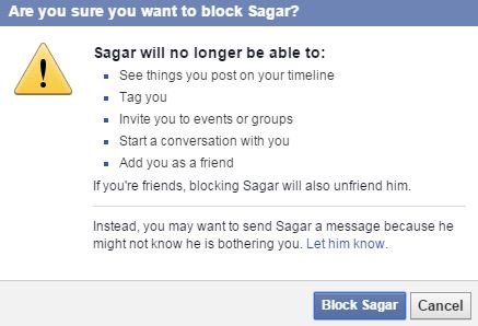 how to tell if someone block you on facebook
