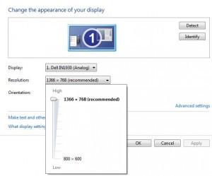 Change screen resolution windows 7 PC