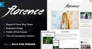 Florence responsive wordpress blog theme