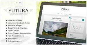 Futura responsive minimal blog theme 2016
