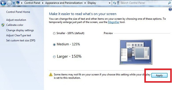 How to change font size in Windows 7 desktop or Laptop