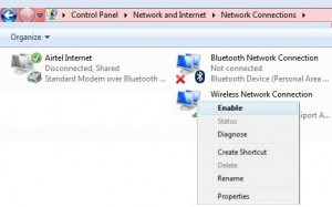 How to turn on WiFi in windows 7 & WIndows PC