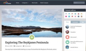 Keilir WordPress themes for magazine